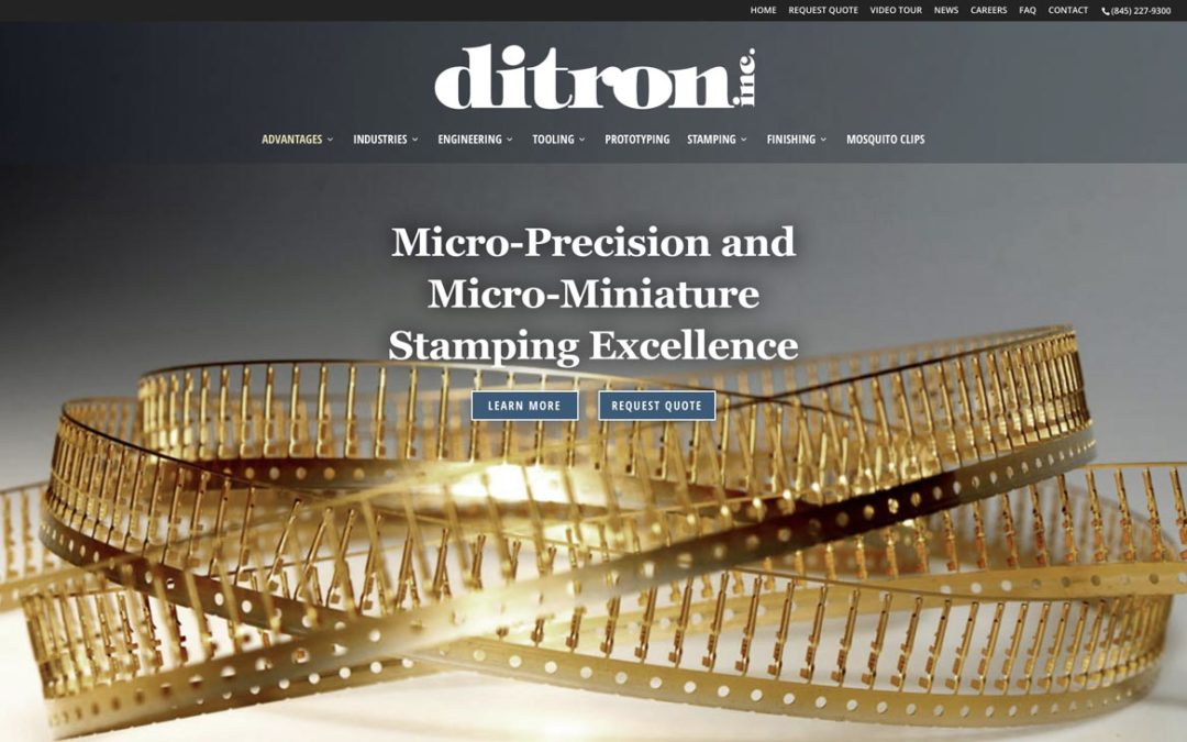 Ditron Stamping Website: updated to offer more.